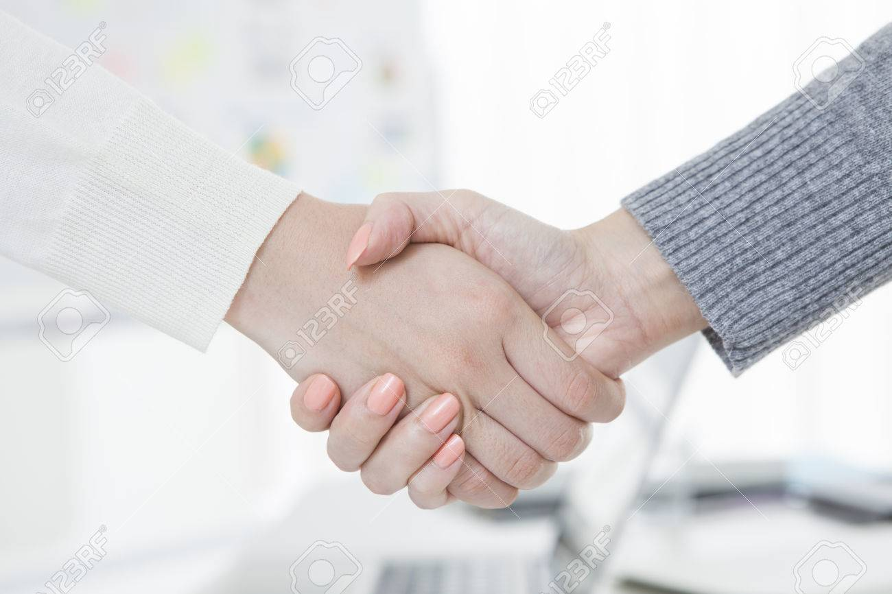 Shaking hands of two business people Stock Photo - 50590938