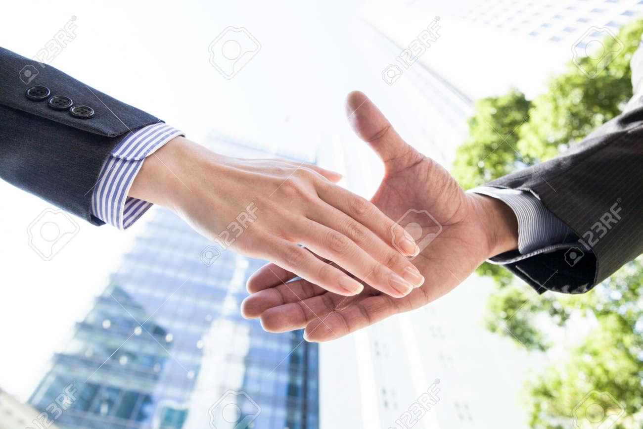Businessman shaking hands - 52338498