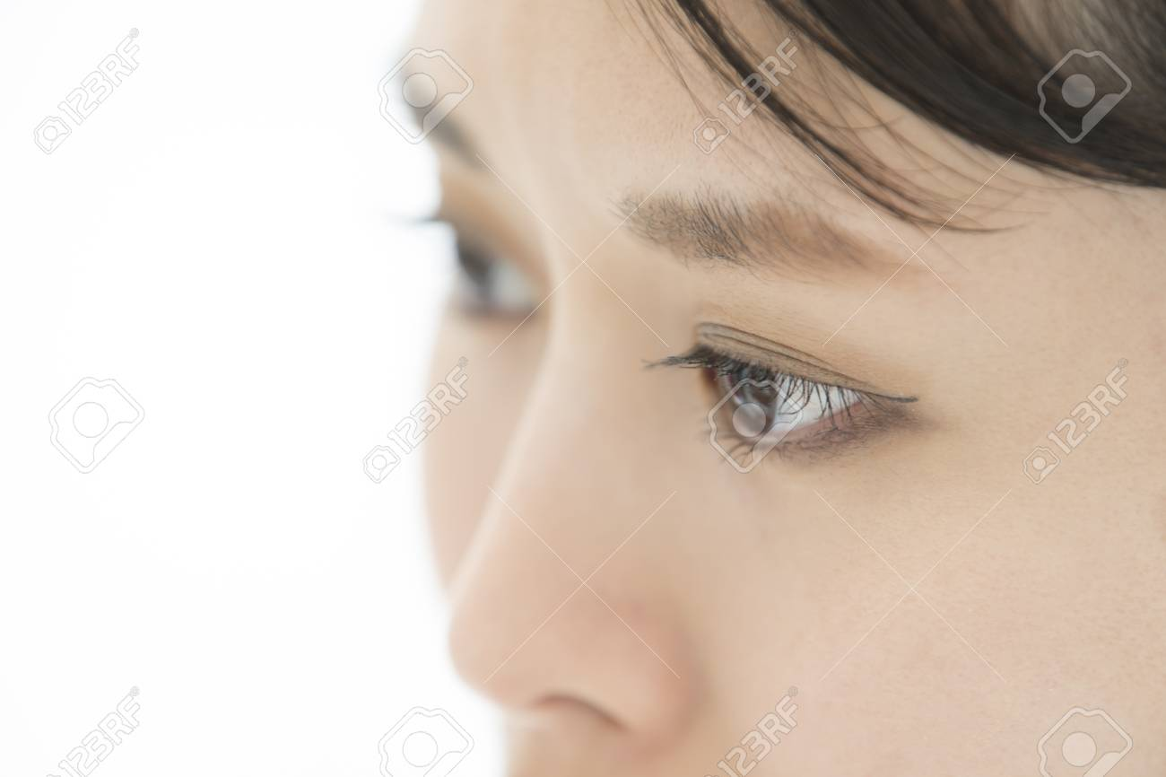 437a1e91dc0 Asian Model Eye Close-up. Selective Focus. Stock Photo, Picture And ...