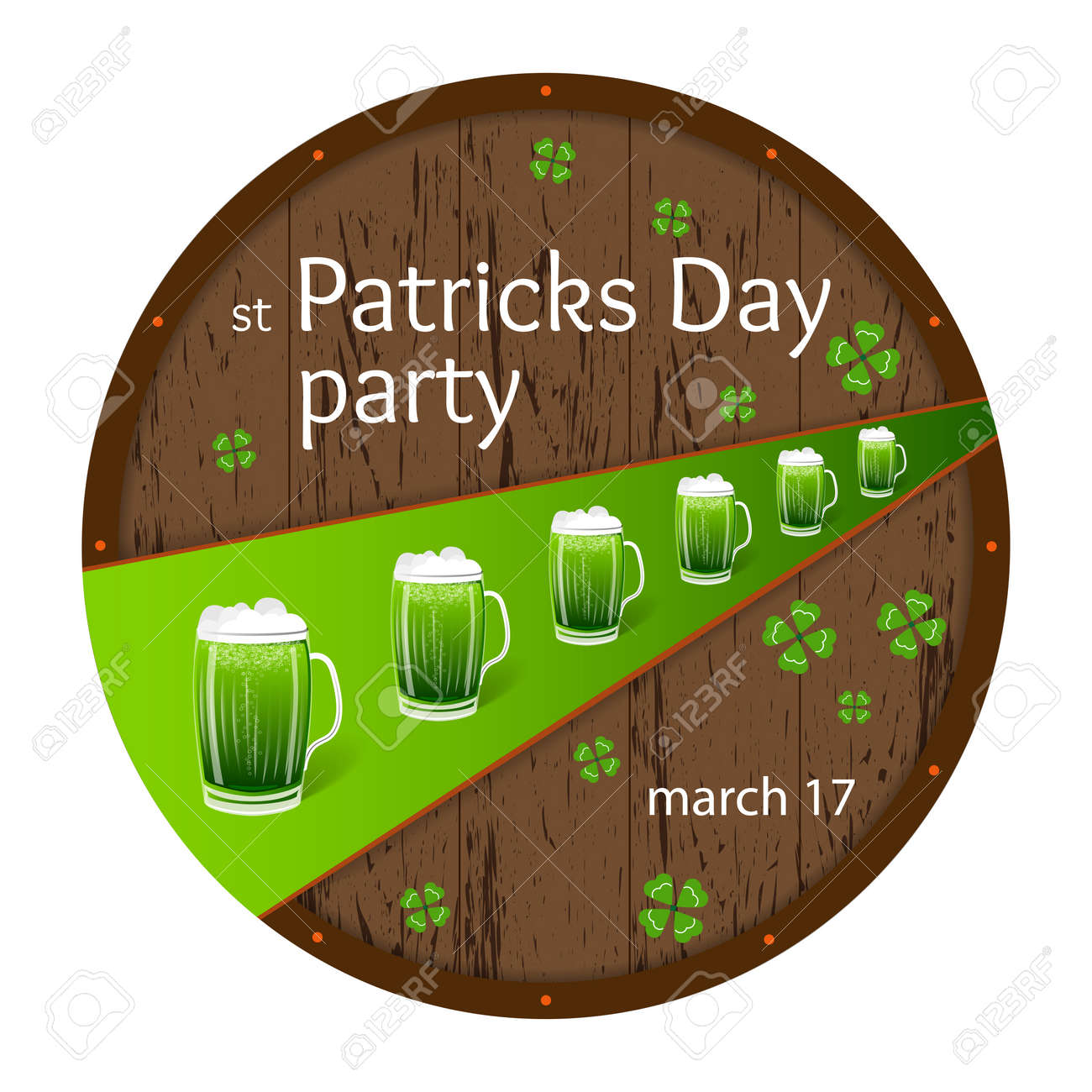 design for st patricks day beer party invitation poster wooden