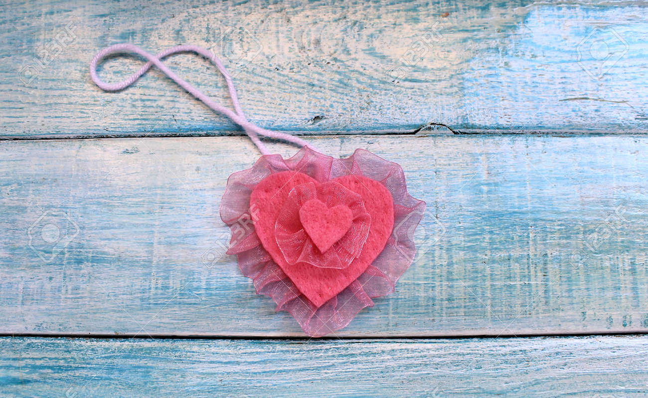 Souvenir Of Last Beautiful Day For >> Beautiful Heart Felt Souvenir For Valentine S Day Stock Photo