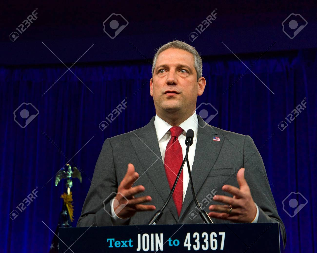 San Francisco, CA - August 23, 2019: Presidential candidate Tim