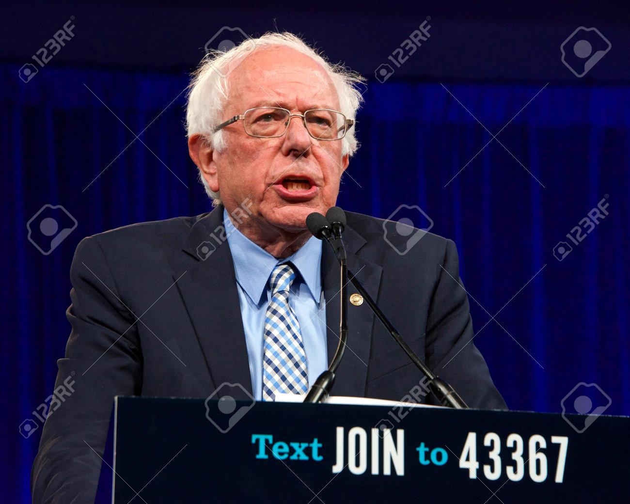 San Francisco, CA - August 23, 2019: Presidential candidate Bernie