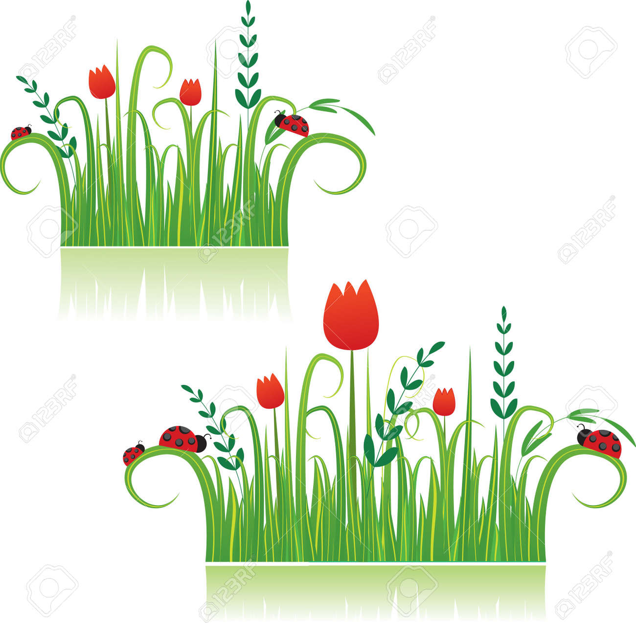 Summer colorful meadow beautiful for you.Vector illustration Stock Vector - 7867403