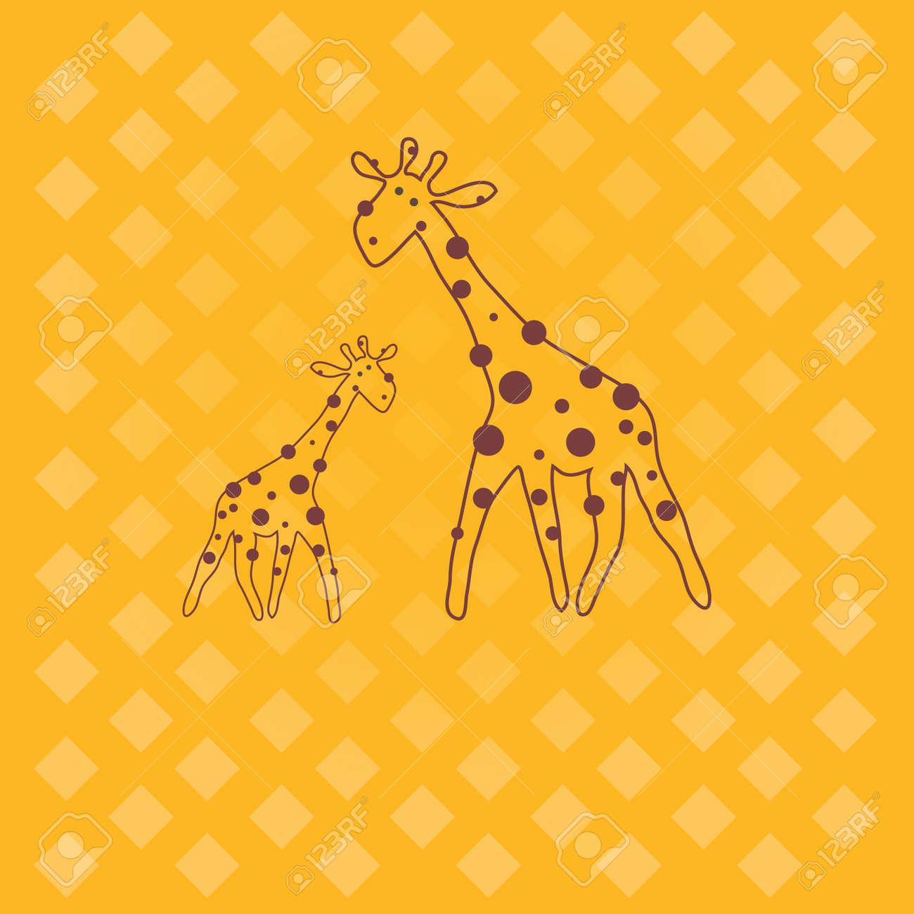 giraffe . Stock Vector - 8630078