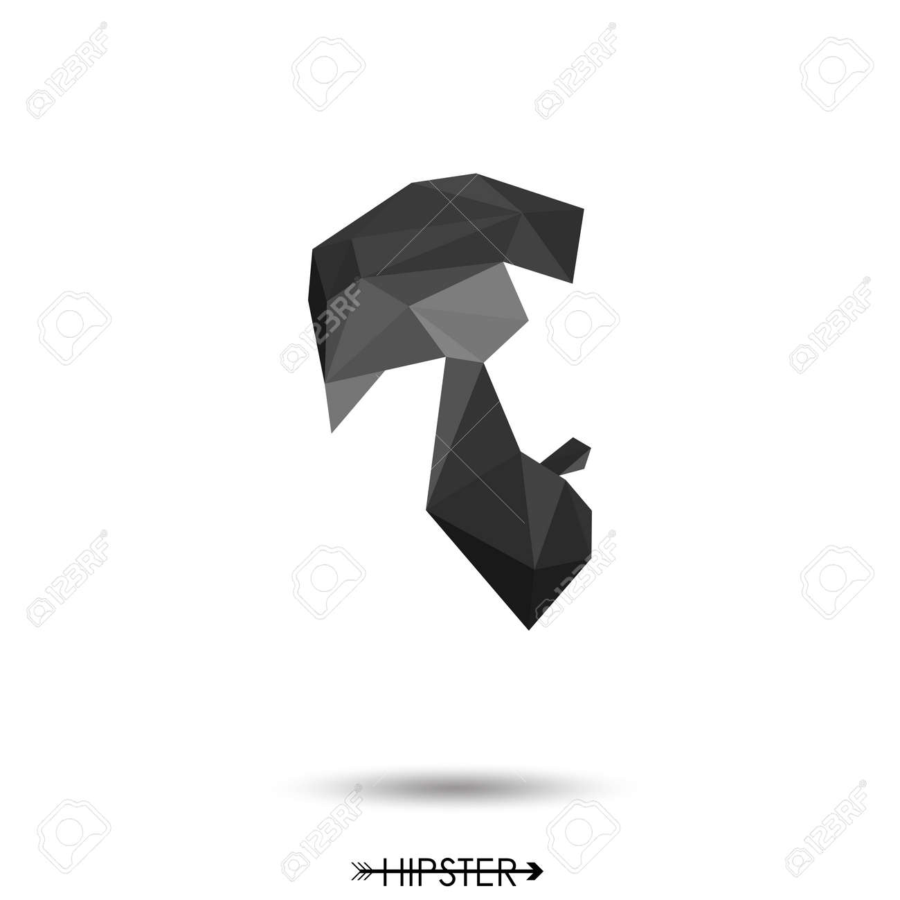 Hipster man low poly style hair and beard simple design for hipster man low poly style hair and beard simple design for logo silhouette jeuxipadfo Images