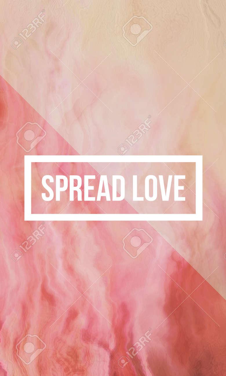 Divulgue La Cita Motivacional Del Amor En Fondo Líquido Abstracto