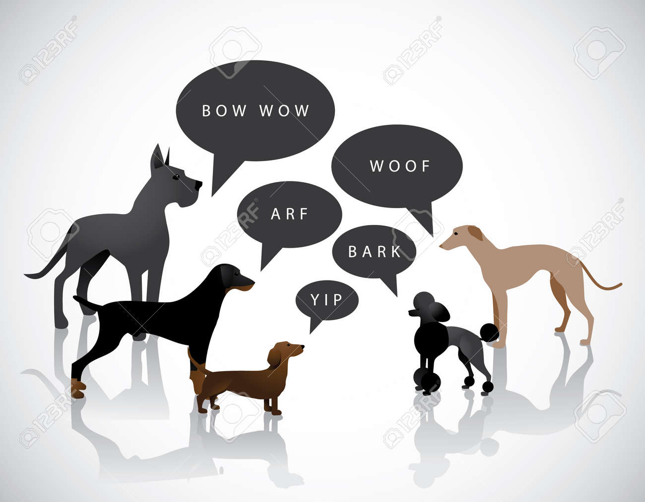 Group Of Barking Dogs Royalty Free Cliparts, Vectors, And Stock ...