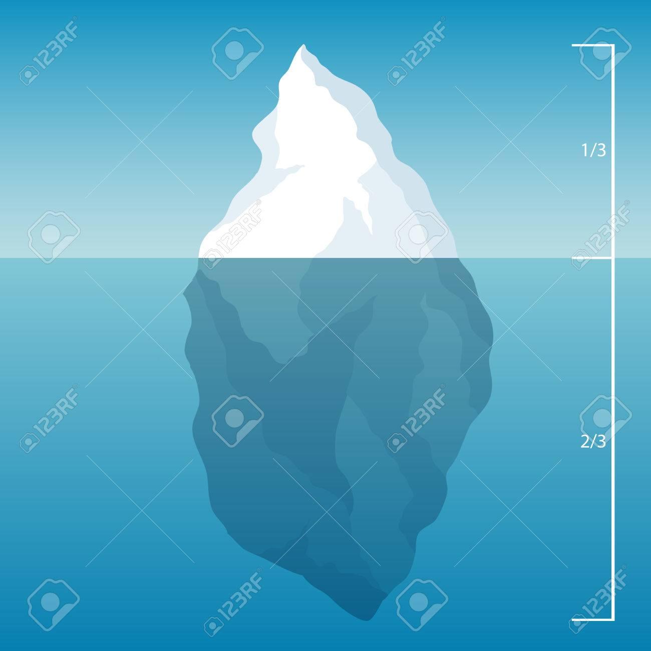 海の氷山。氷の水。イラスト背景。 ロイヤリティフリークリップアート