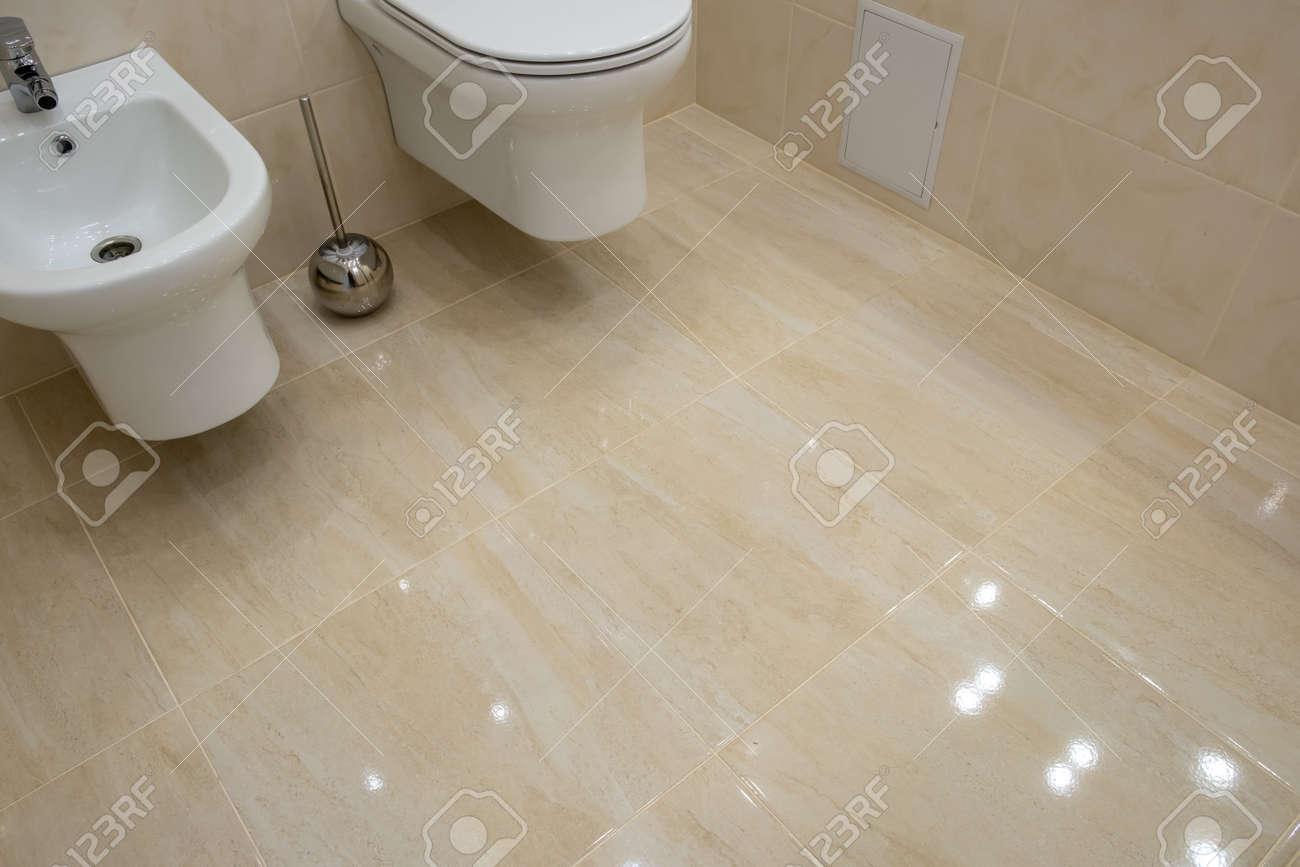 Terrific Toilet And Bidet In A Modern Bathroom Raised Lid Light Interior Machost Co Dining Chair Design Ideas Machostcouk