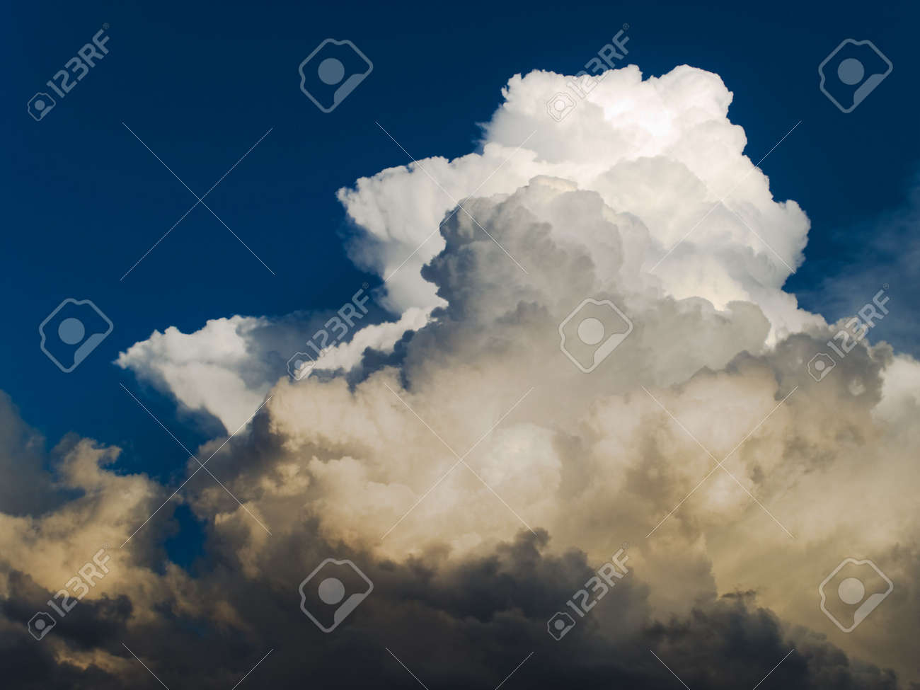Stratocumulus Clouds Formed Over Blue Sky Before Storm Stock Photo Picture And Royalty Free Image Image 5927618