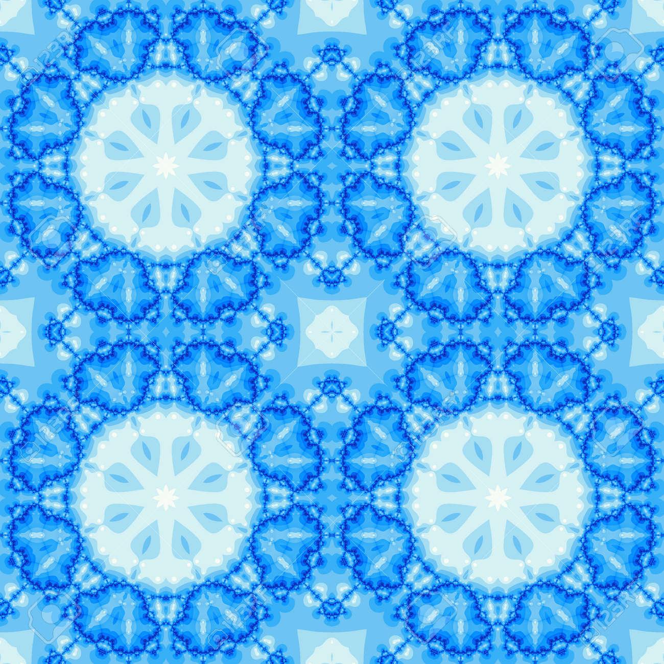 Nahtlose Fraktale Fliese Mit Einem Mandala Design In Den Farben ...