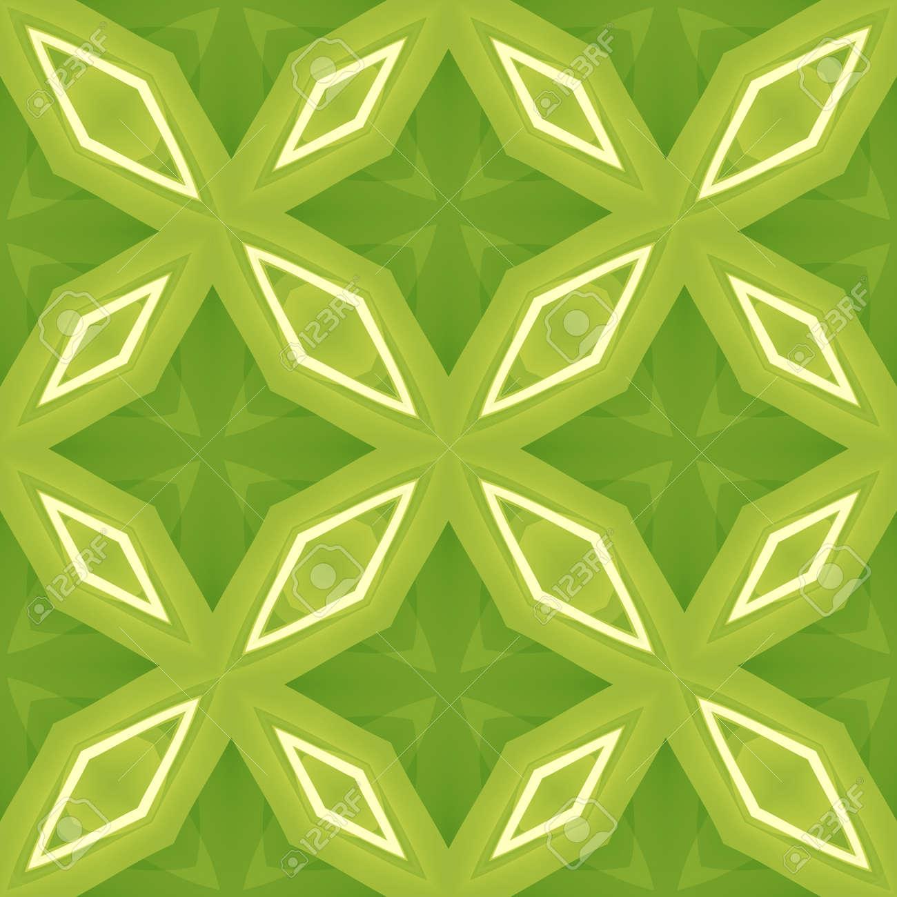 Textura Abstracta Verde. Azulejo Sin Fisuras. Arreglo De Formas De ...