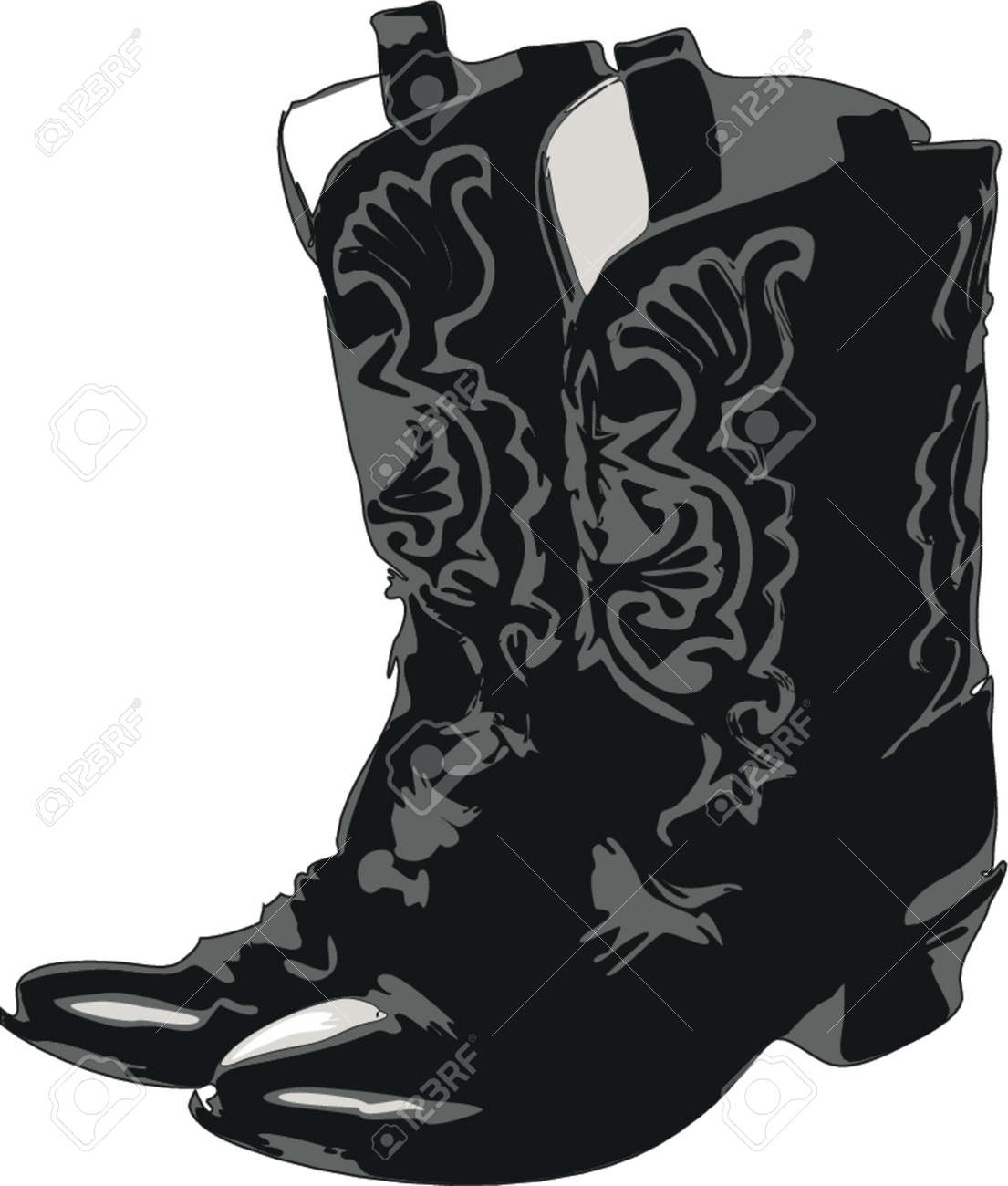 Cowboy Boots Royalty Free Cliparts, Vectors, And Stock Illustration ...