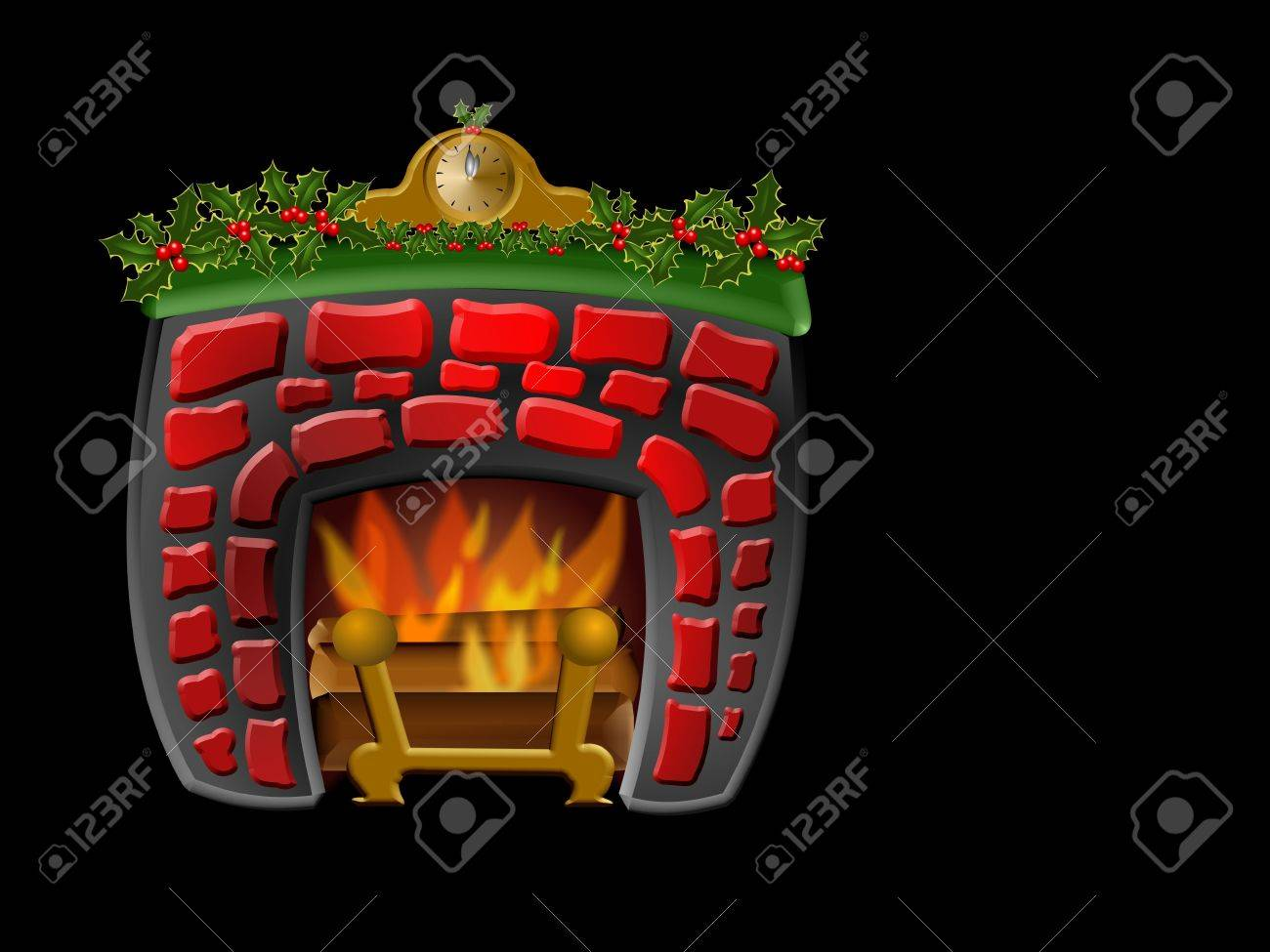 cute fireplace for christmas decoration stock photo picture and