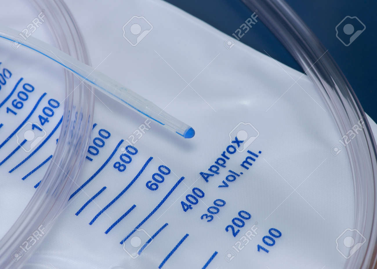 Close up photo of a urinary catheter with urine bag. Stock Photo - 24918919