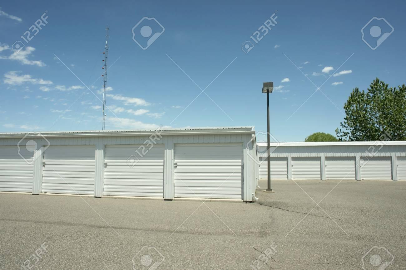 Stock Photo - Storage units at a local storage rental company. & Storage Units At A Local Storage Rental Company. Stock Photo ...