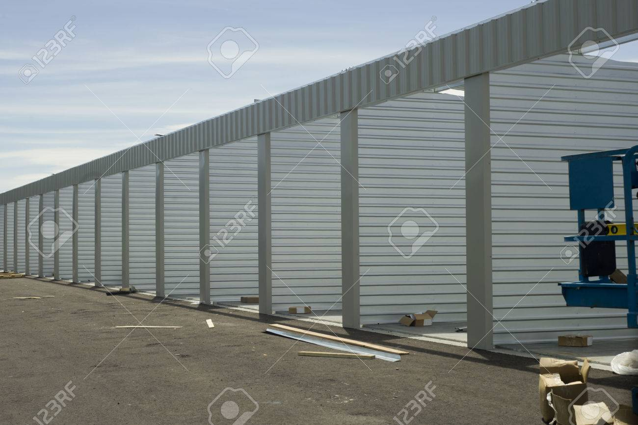 Self storage unit construction. Stock Photo - 63594737 & Self Storage Unit Construction. Stock Photo Picture And Royalty ...