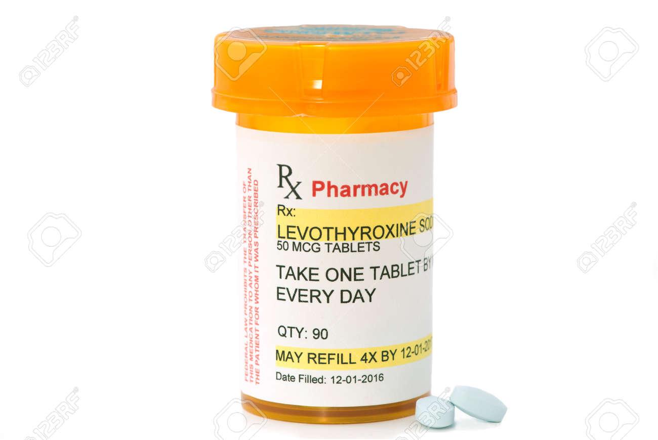 Levothyroxine Sodium Prescription Bottle Levothyroxine Is A