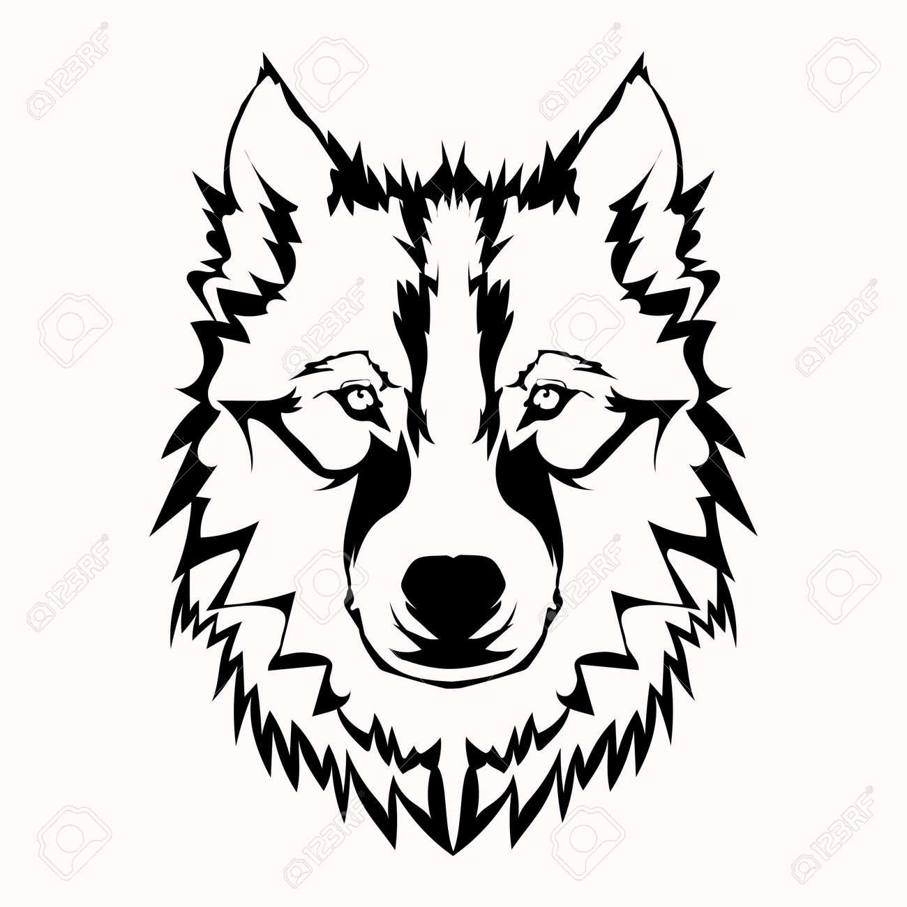 Bildergebnis für wolf schwarz weiß zeichnung