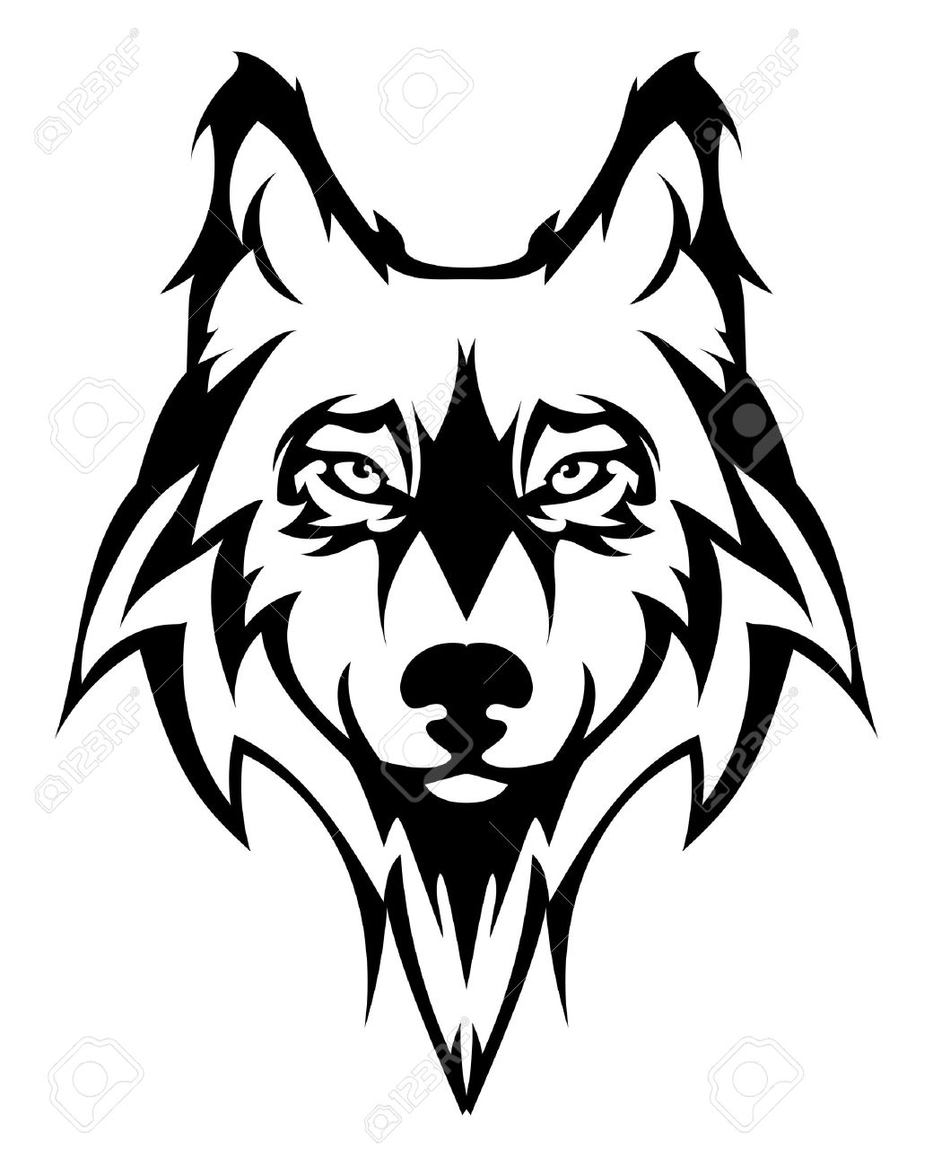 beautiful wolf tattoo vector wolf s head as a design element rh 123rf com wolf vector graphic wolf vector free