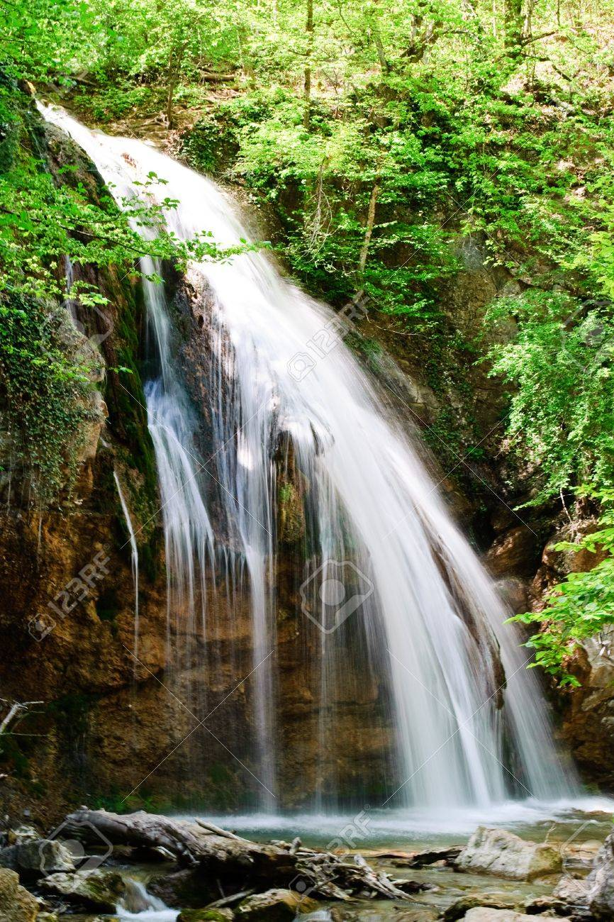 waterfall jur-jur in the Crimean moutains Stock Photo - 7132423