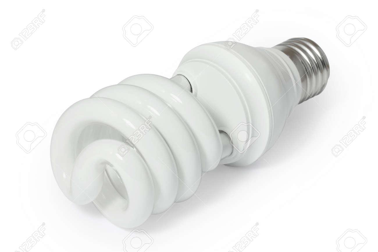 Energy saving fluorescent light bulb (CFL). Stock Photo - 8012554