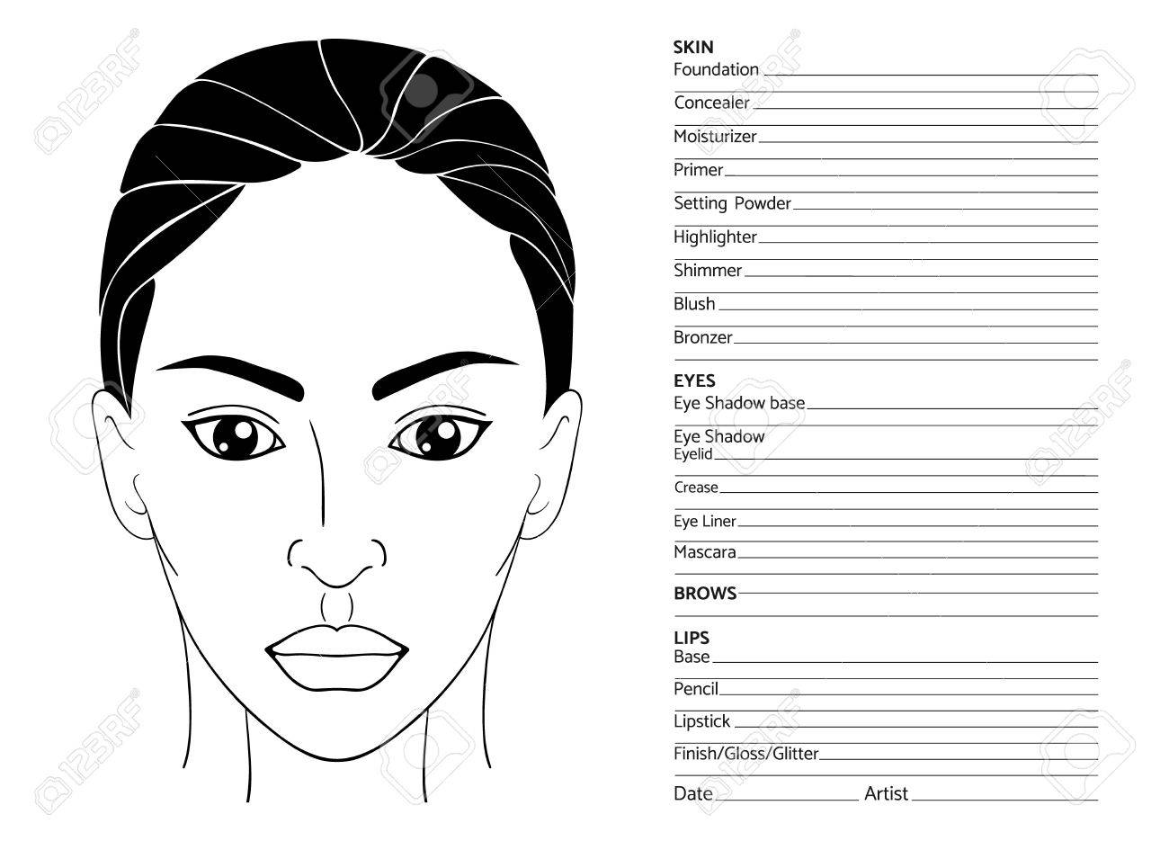 Großzügig Vorlagen Für Make Up Künstler Wieder Aufnehmen Bilder ...
