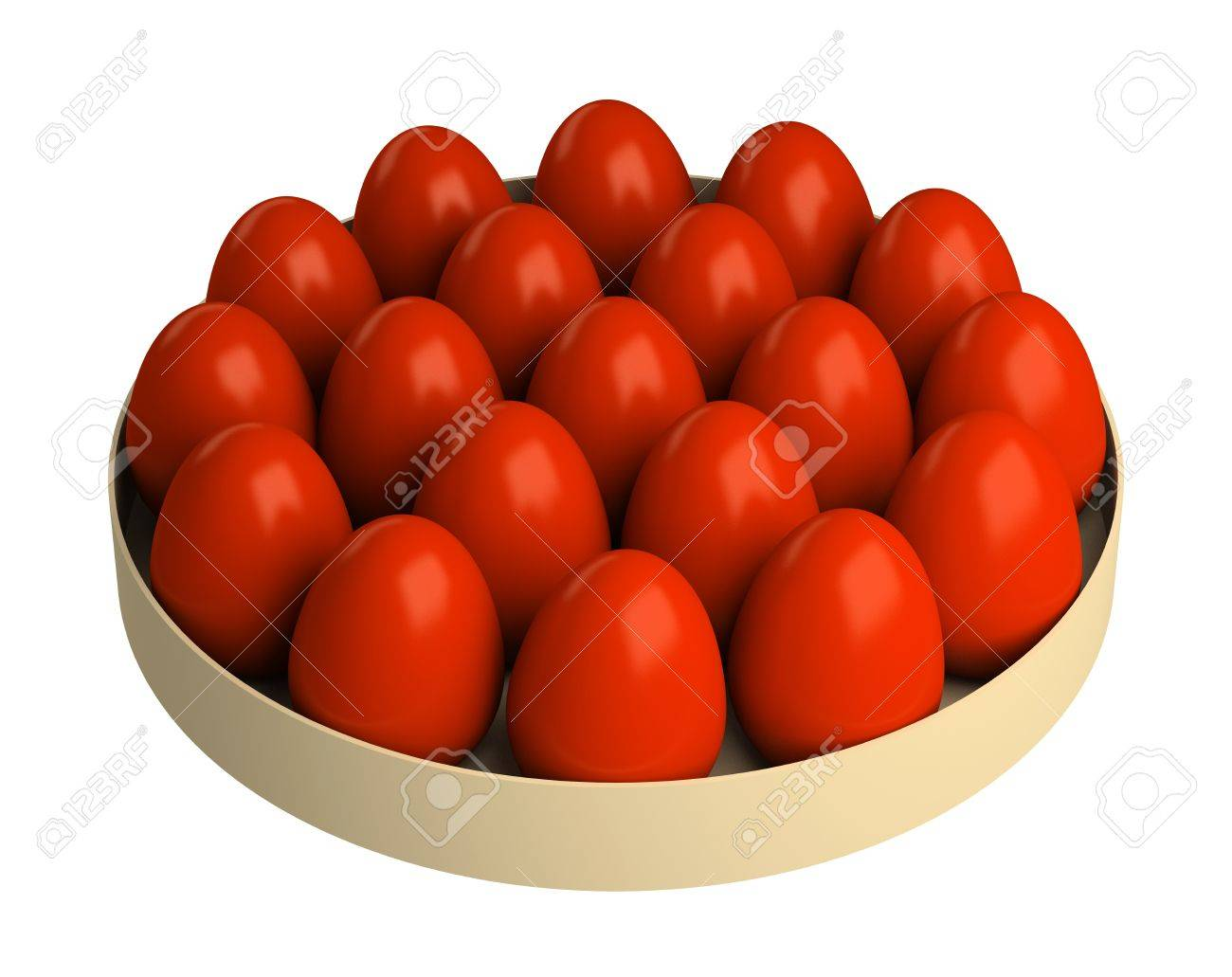 Traditional red Easter eggs, colored onions peel. Isolated on a white background. Stock Photo - 12918461