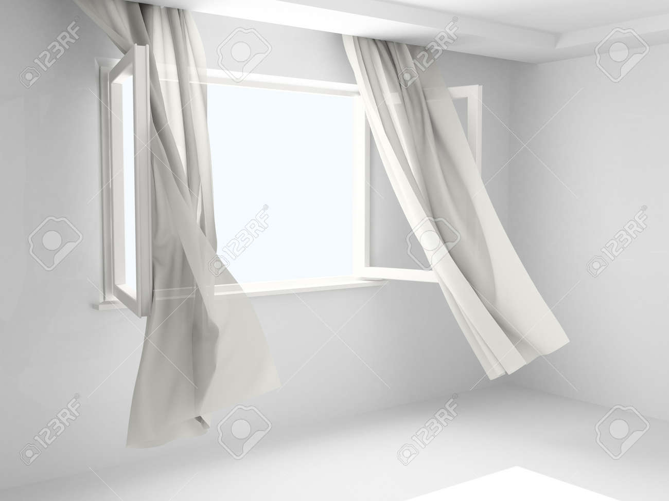 Open window with curtains blowing - 54 Inch Length Curtains Target