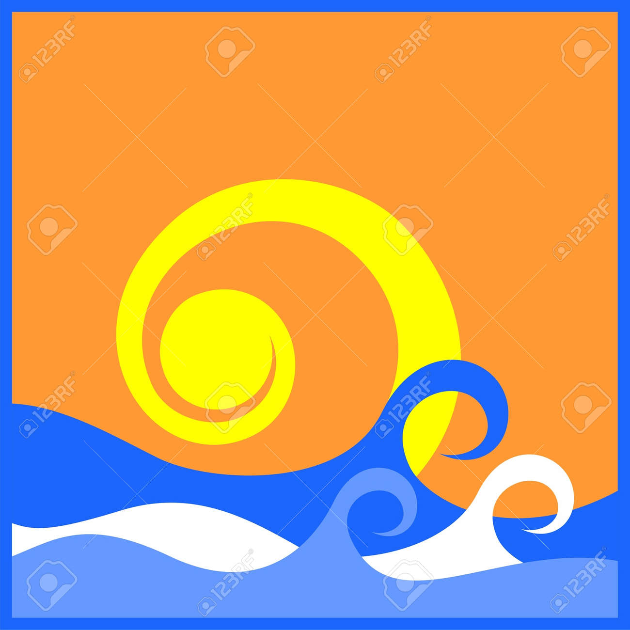 The Sun And The Sea Stock Vector - 14044469