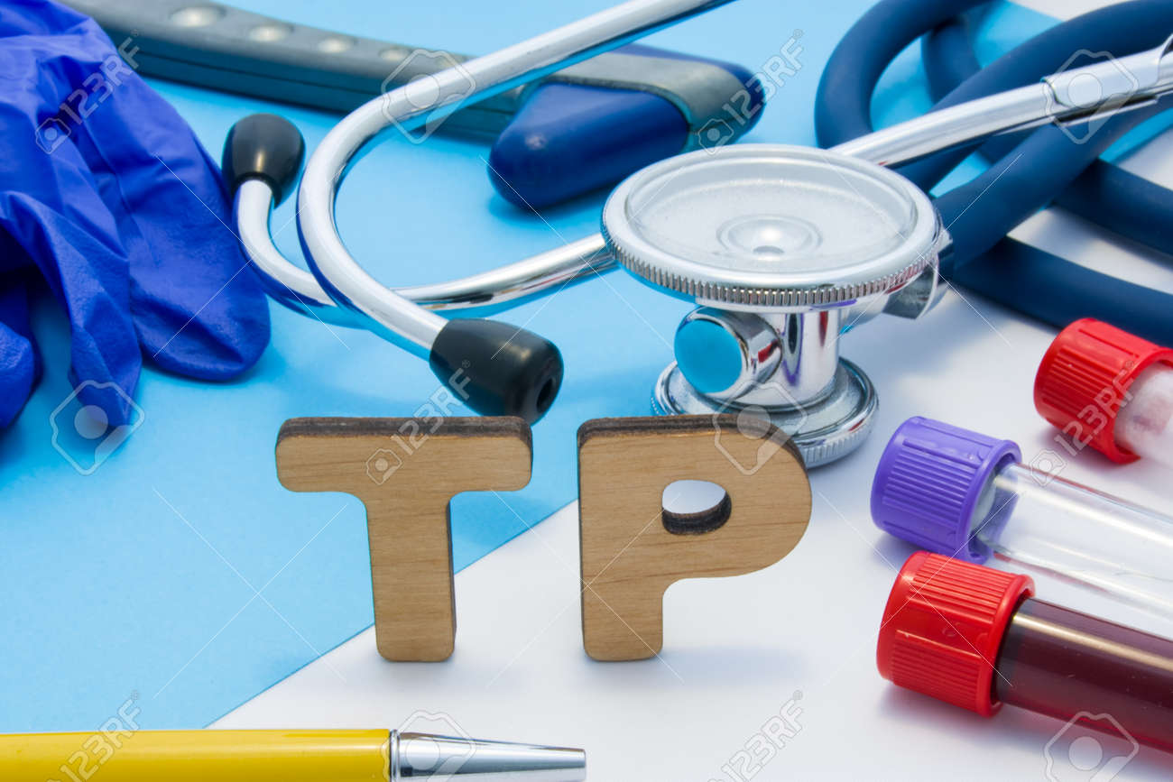 TP Medical lab acronym, meaning total protein in blood or serum