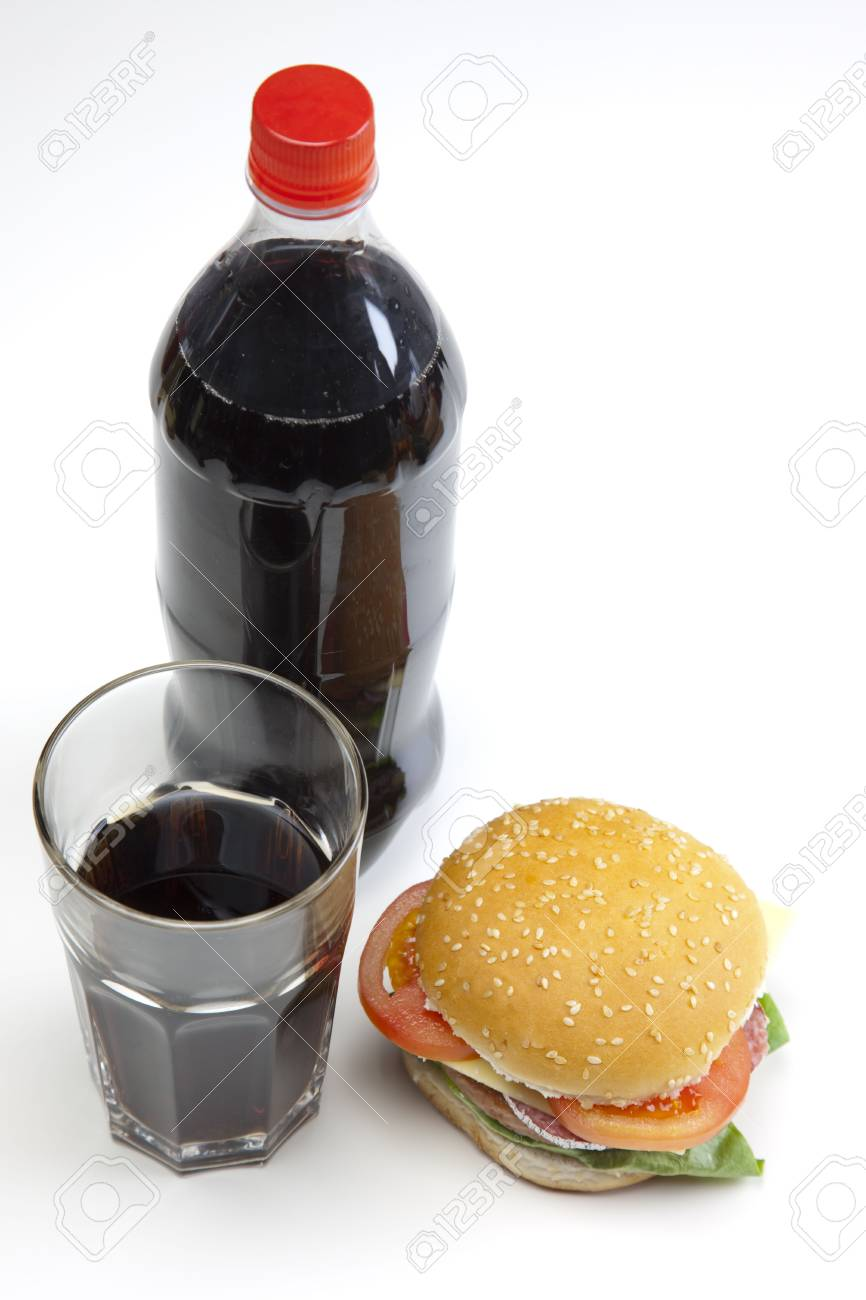 Delicious juicy hamburgery goodness with lettuce, tomato, cheese and ketchup Stock Photo - 4803486