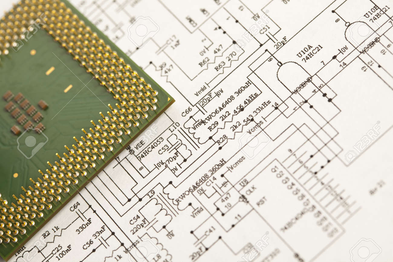 An Electronic Schematic Diagram Ideal Technology Background Stock Electronics Photo 8005690