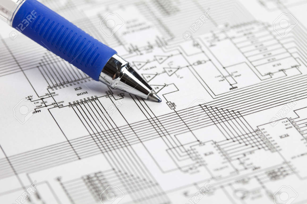 An Electronic Schematic Diagram Ideal Technology Background Stock Photos Photo 8005645