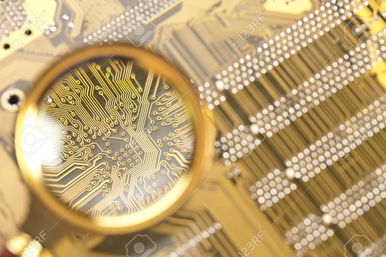 A close up of a computer circuit. Stock Photo - 8005740