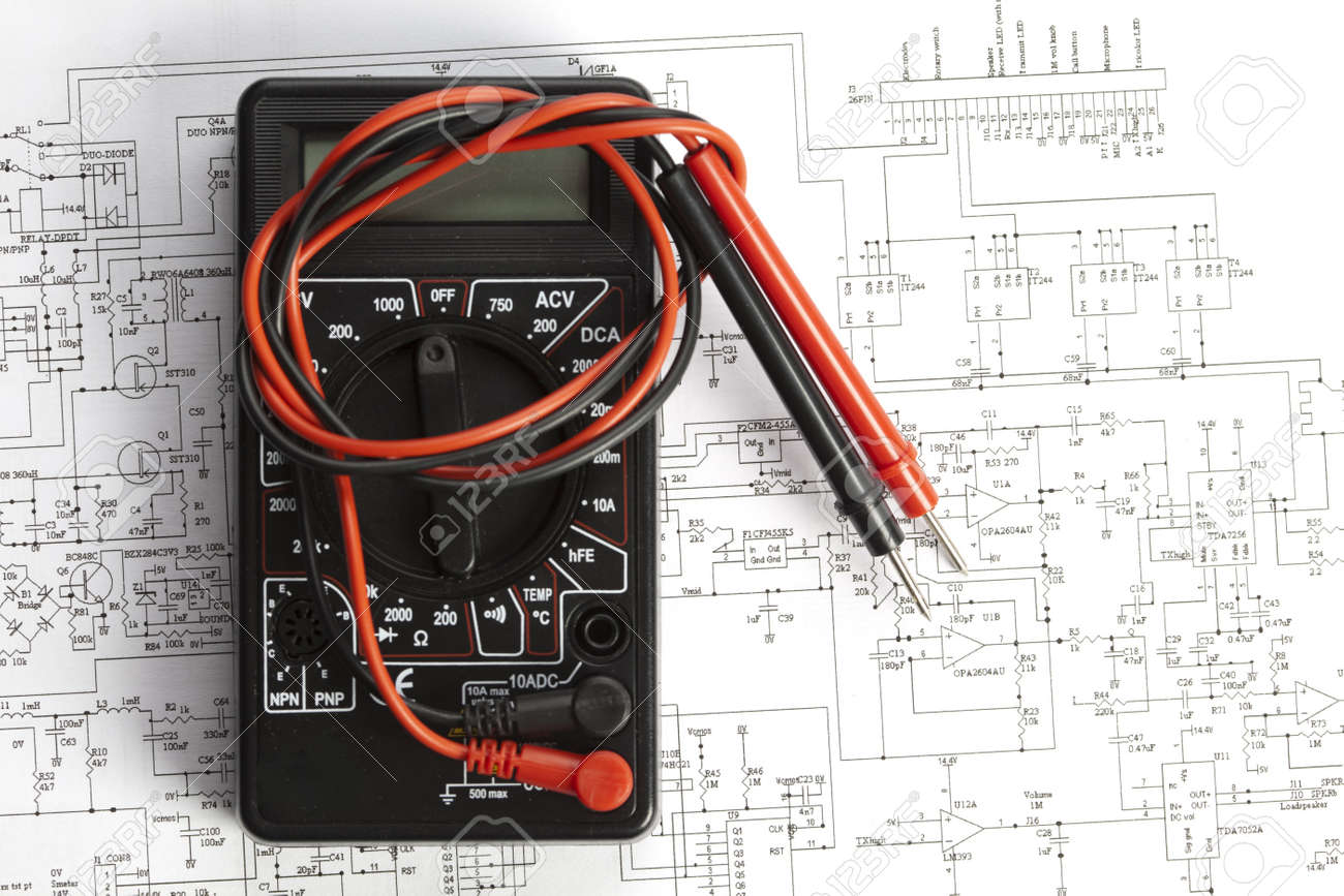 schematic diagram of electronic components schematic electronic components on a schematic diagram background stock on schematic diagram of electronic components