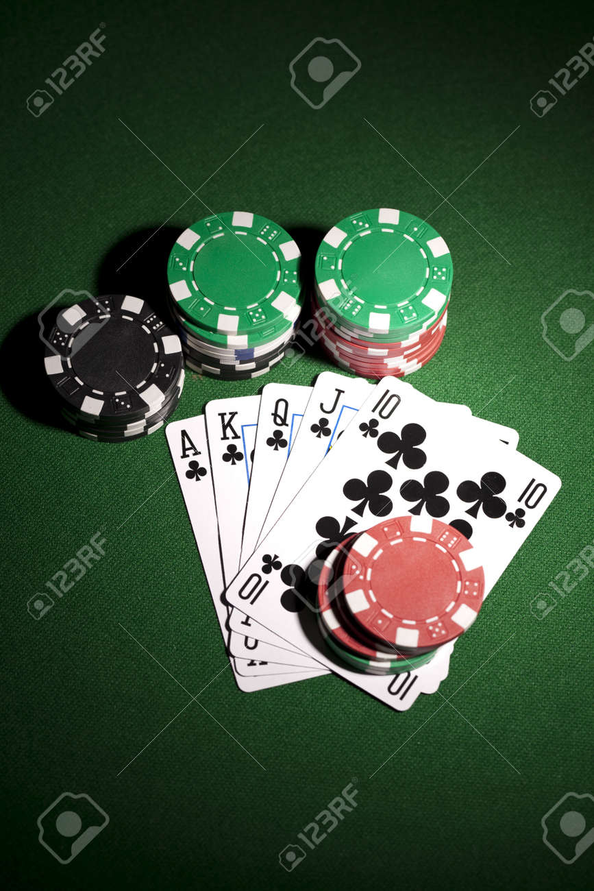 Poker cards and gambling chips Stock Photo - 11706261