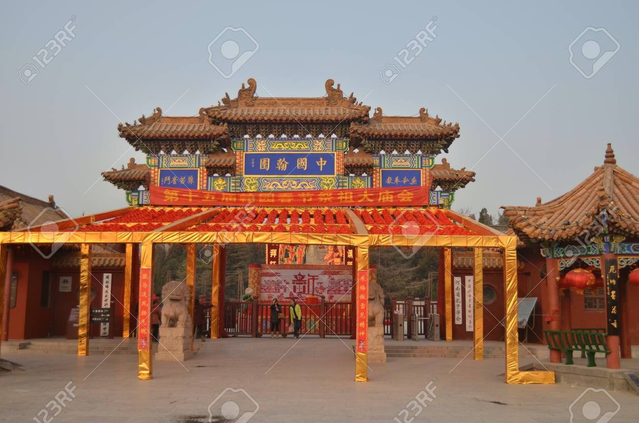 開封市、河南省にある古い建物の...