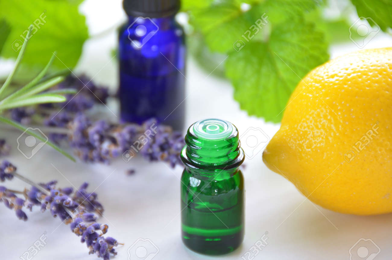 aromatherapy with lemon and herbs - 13088793