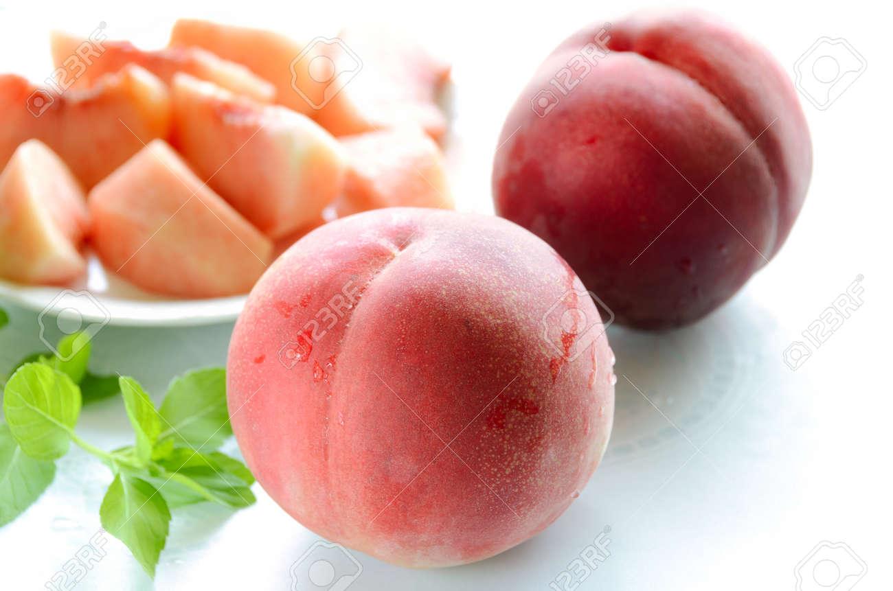 peach on white background - 44234107