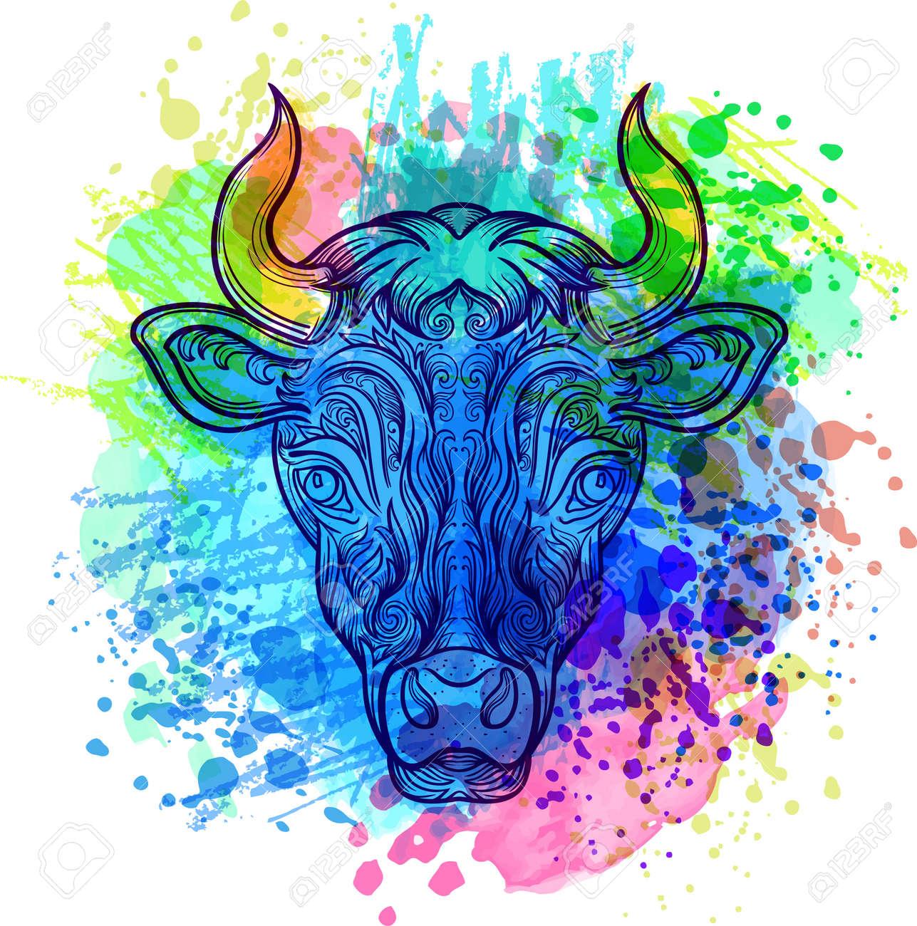Bool Dibujado A Mano Con El Patrón Doodle Floral étnico Dibujo Para Colorear Zendala Diseño De última Moda Del Tatuaje Camiseta De Impresión