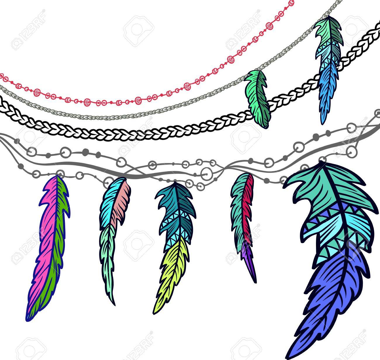 hand drawn clip art of native american indian talisman dream rh 123rf com