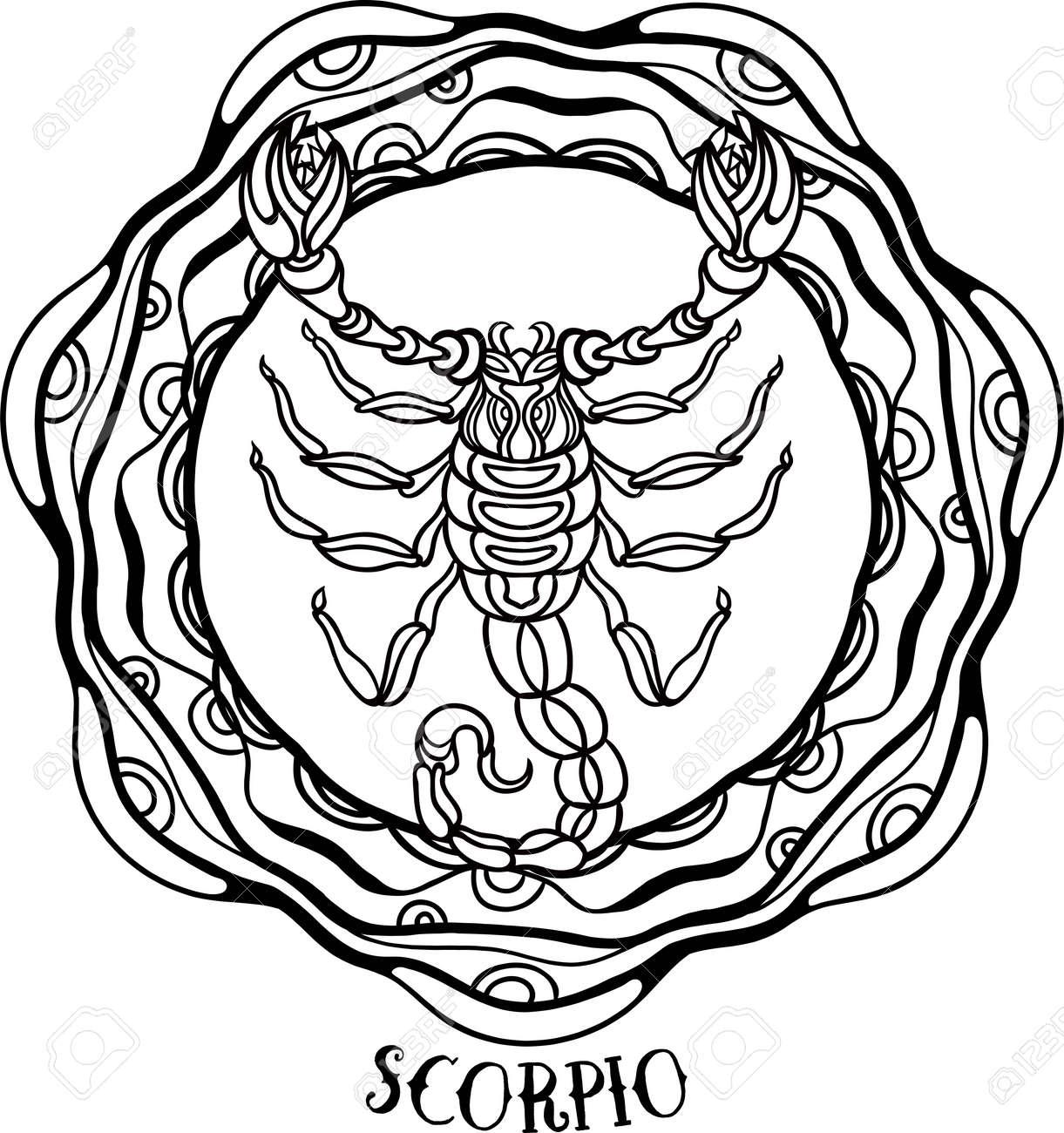 Zodiac Virgo tribal, decorative wool pattern. Vector - 63417073