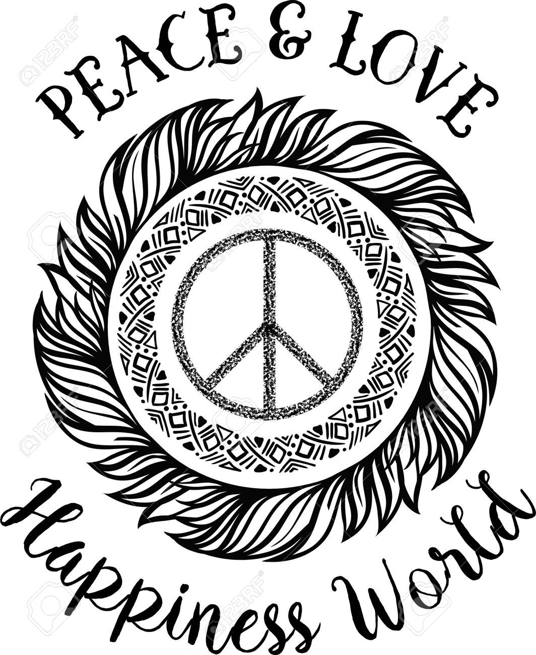 Sign pacifist peace symbol with a brush black hippie sign sign pacifist peace symbol with a brush black hippie sign on a white biocorpaavc Image collections