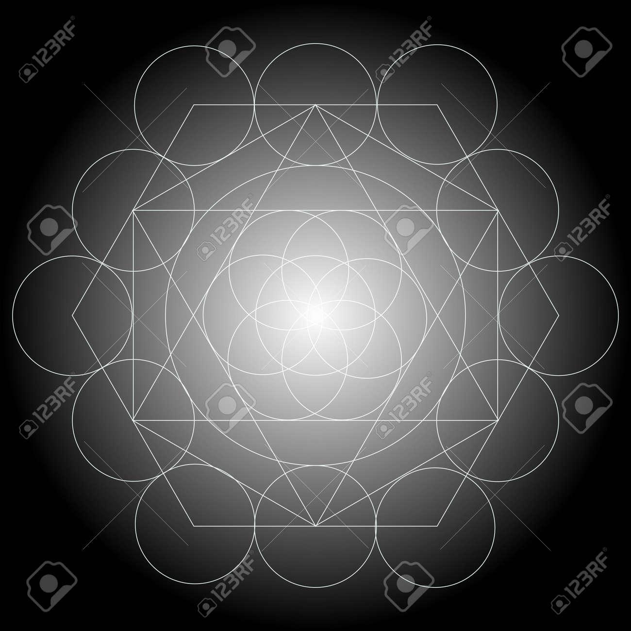 Metatrons Cube Solides Platoniciens Fleur De Vie Hipster Sacre