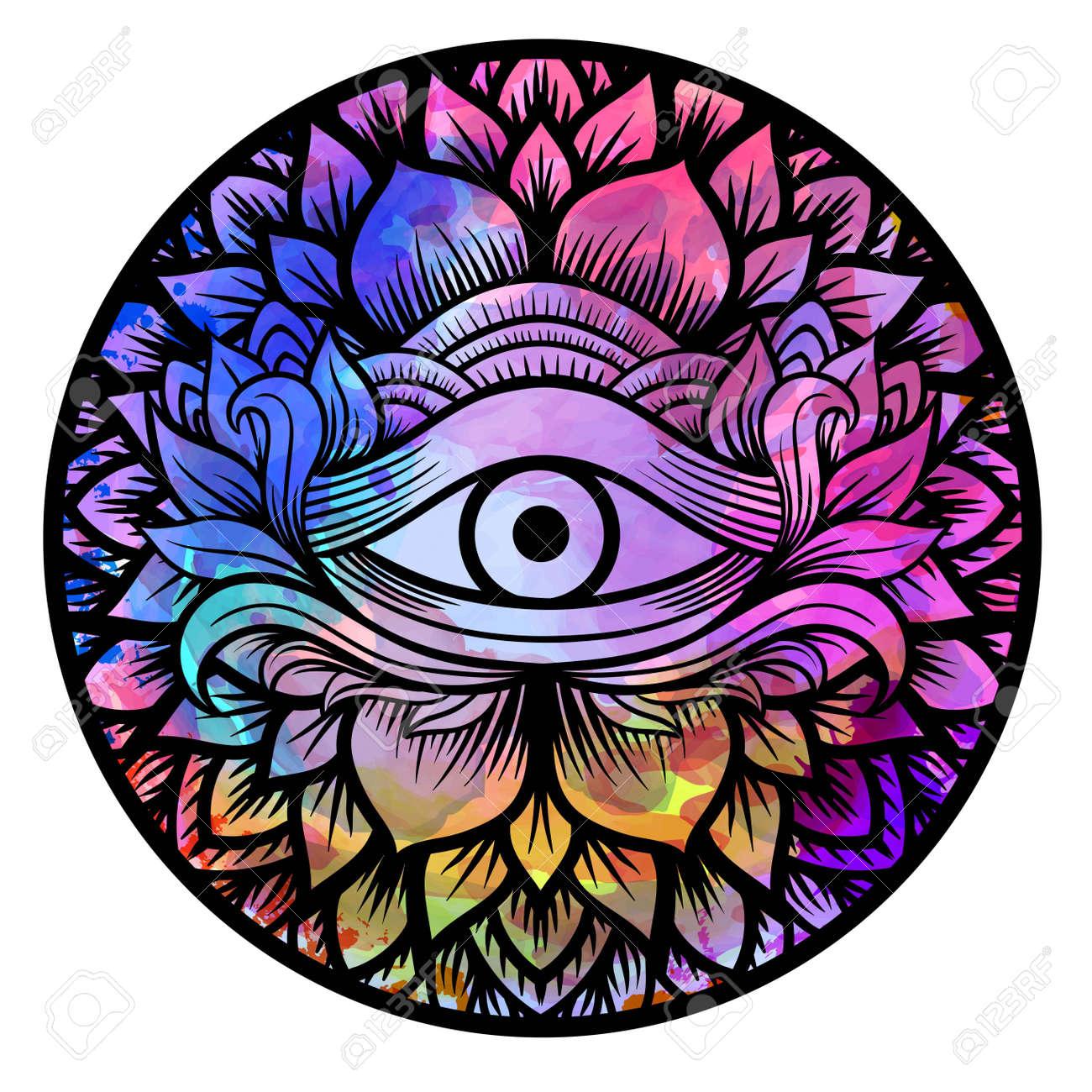 Мандала для 3 глаза