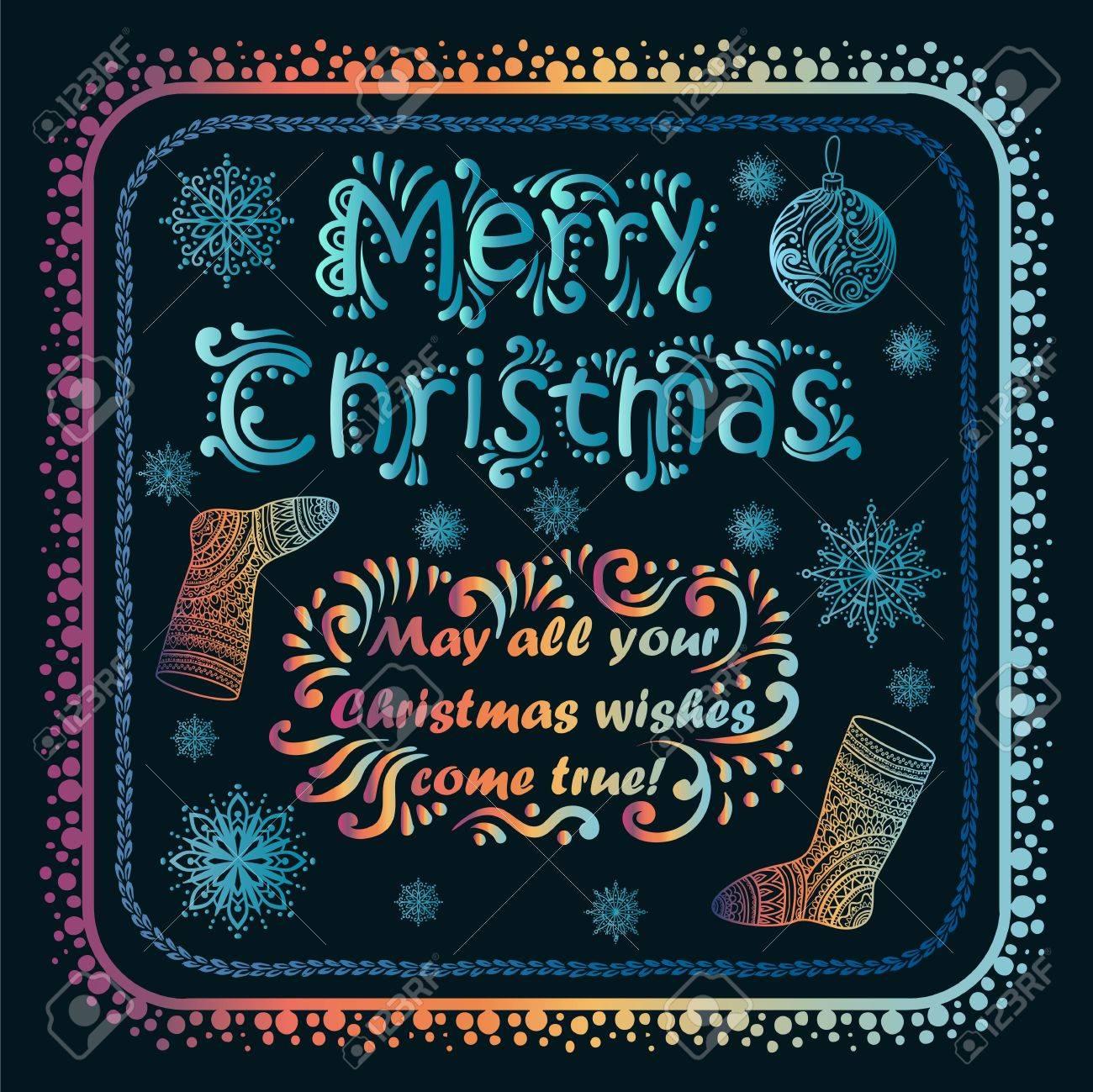 24 Weihnachtswünsche.Stock Photo