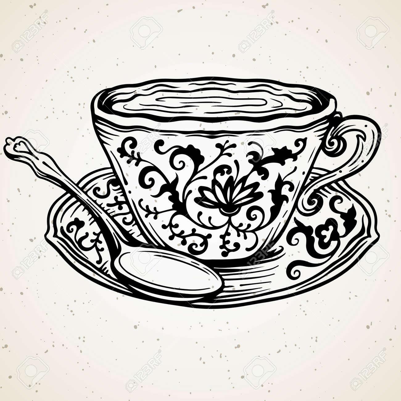 Vintage Tea Cup Clip Art