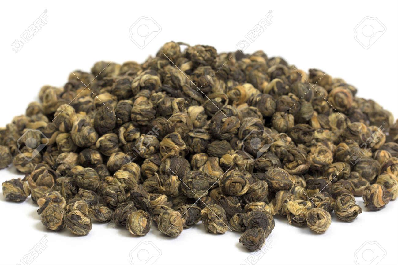 Jasmine Dragon Pearl Tea Stock Photo - 16489180